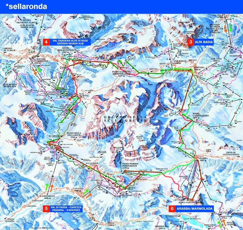 Alleghe Piste / Trail Map
