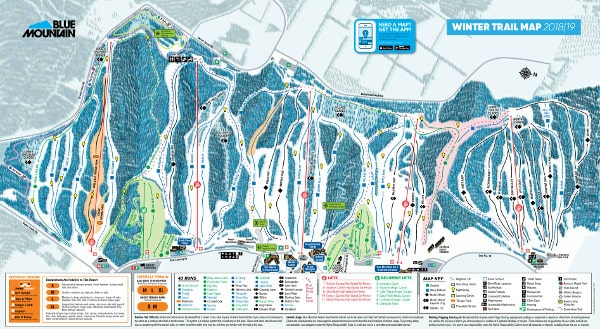 Blue Mountain Piste / Trail Map