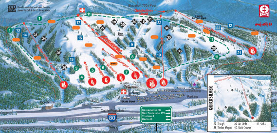 Boreal Mountain Piste / Trail Map
