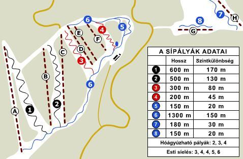 Bánkút Piste / Trail Map