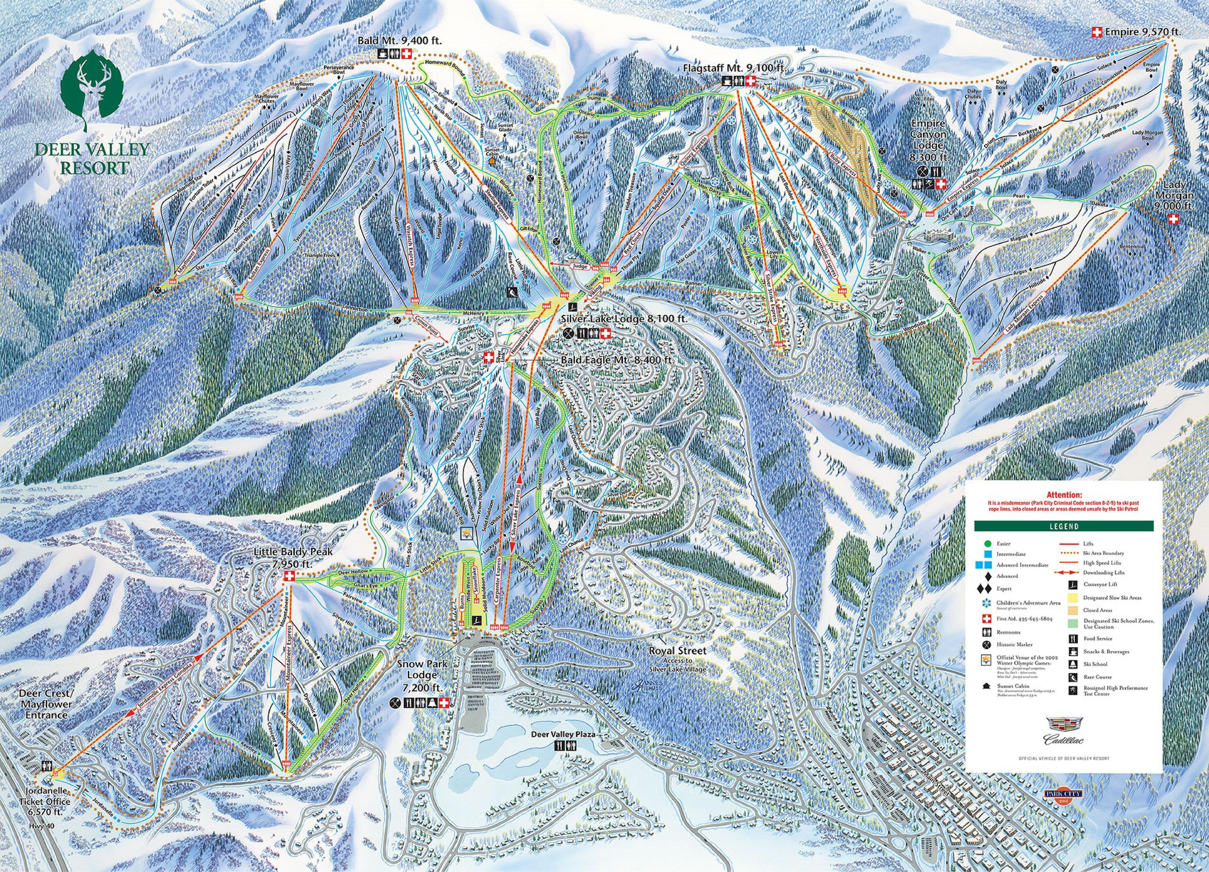 Deer Valley Piste / Trail Map