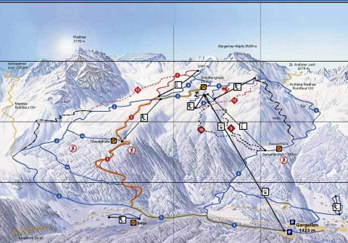 Gargellen Piste / Trail Map