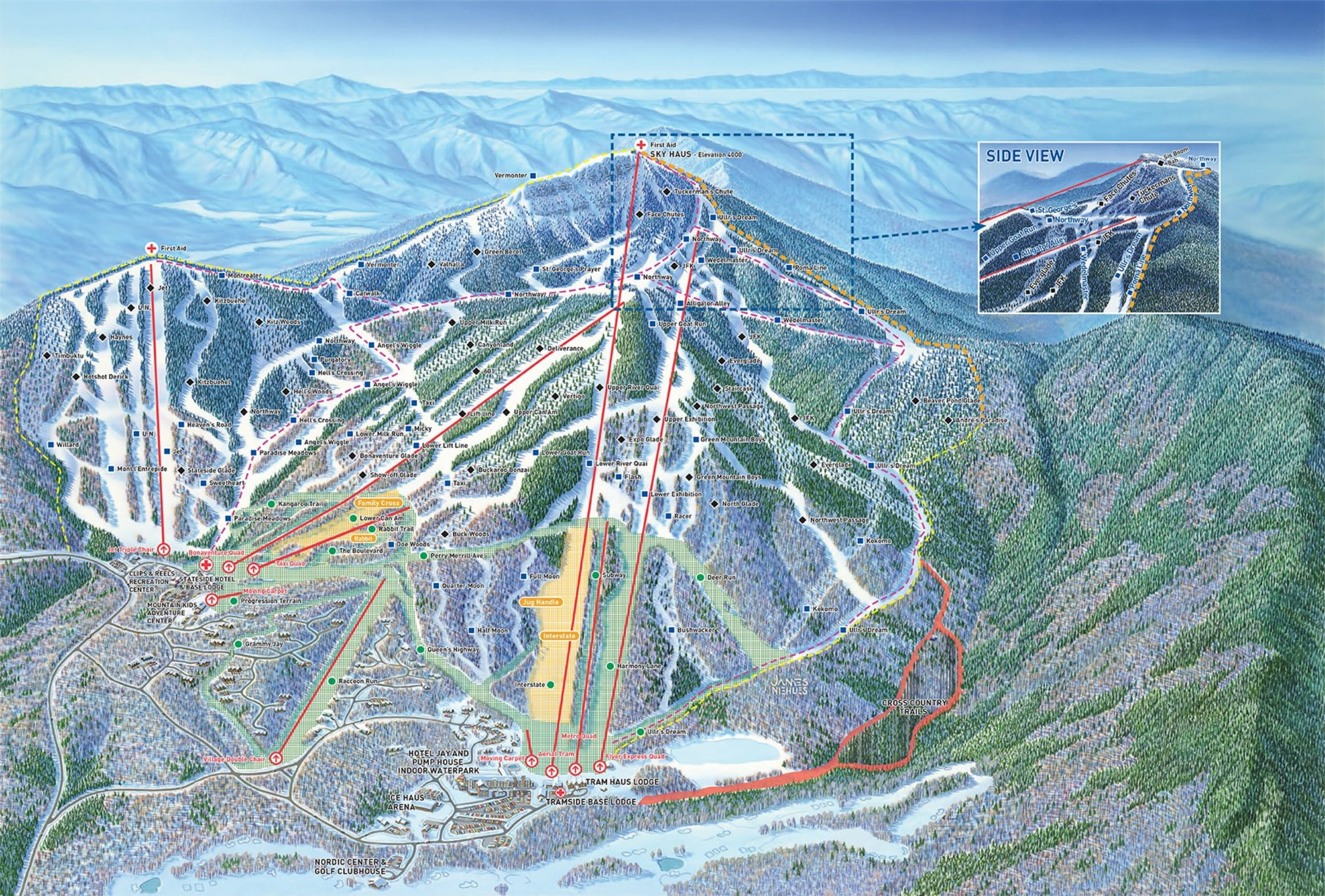 Jay Peak Piste / Trail Map