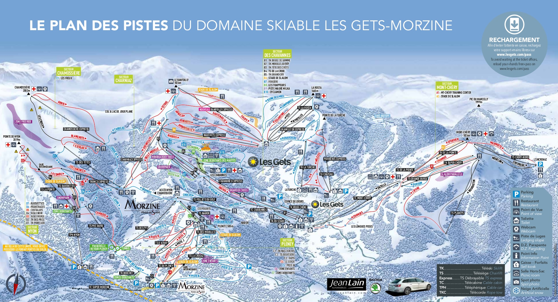 Les Gets Piste / Trail Map