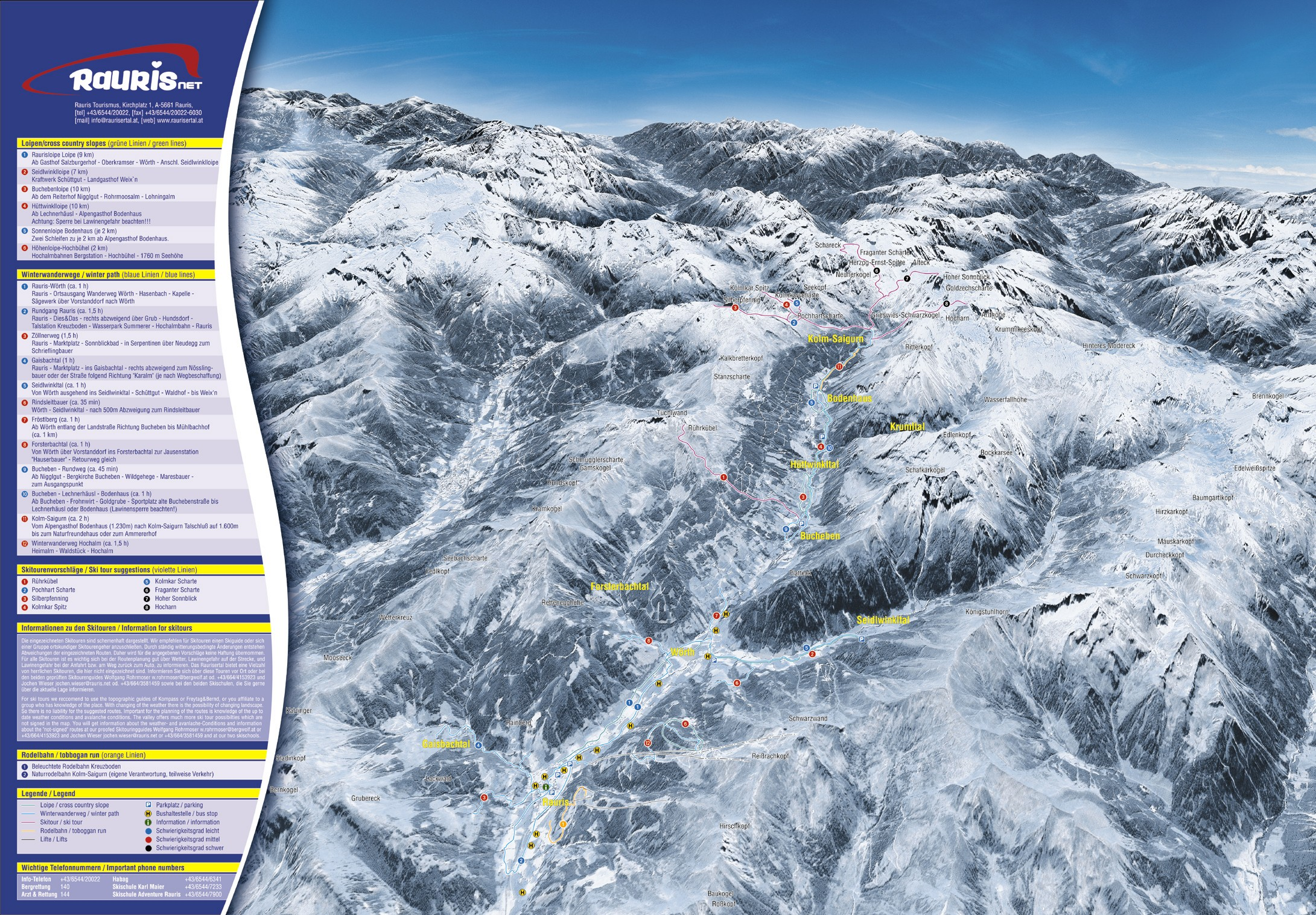 Rauris Piste / Trail Map