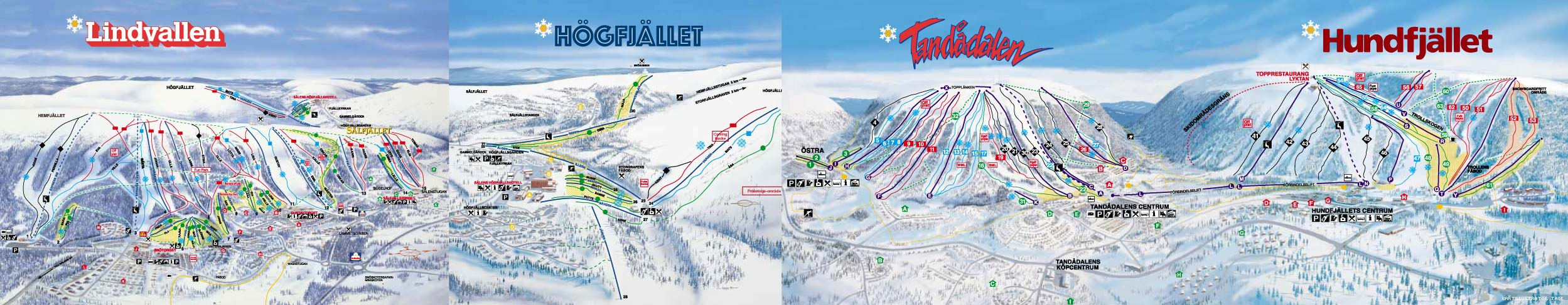 Sälen Piste / Trail Map