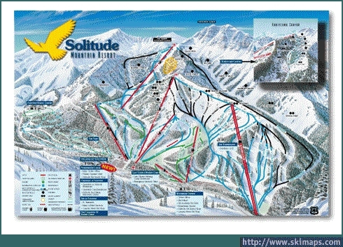 Solitude Piste / Trail Map