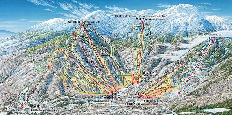 Stowe Piste / Trail Map