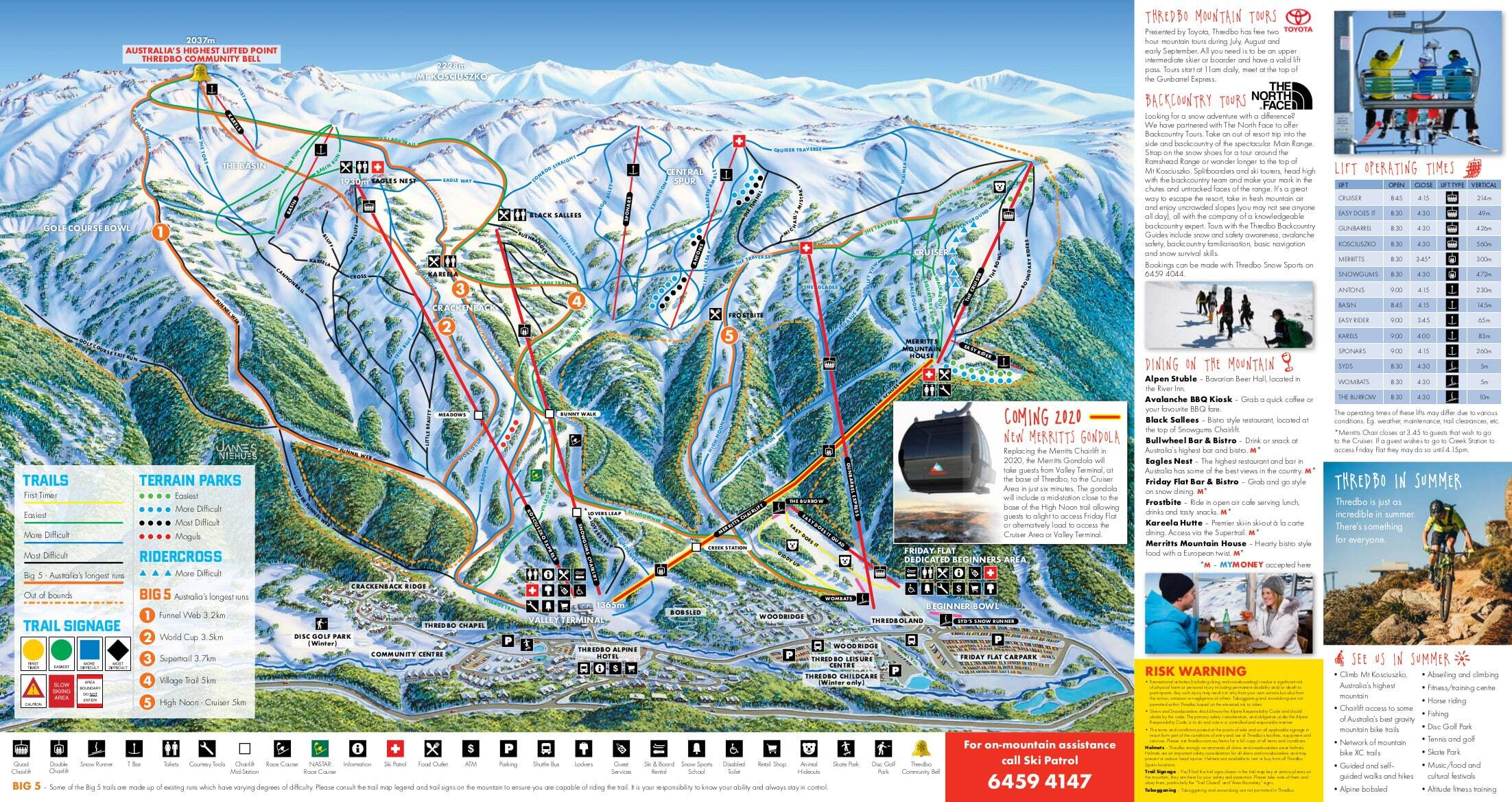 Thredbo Piste / Trail Map