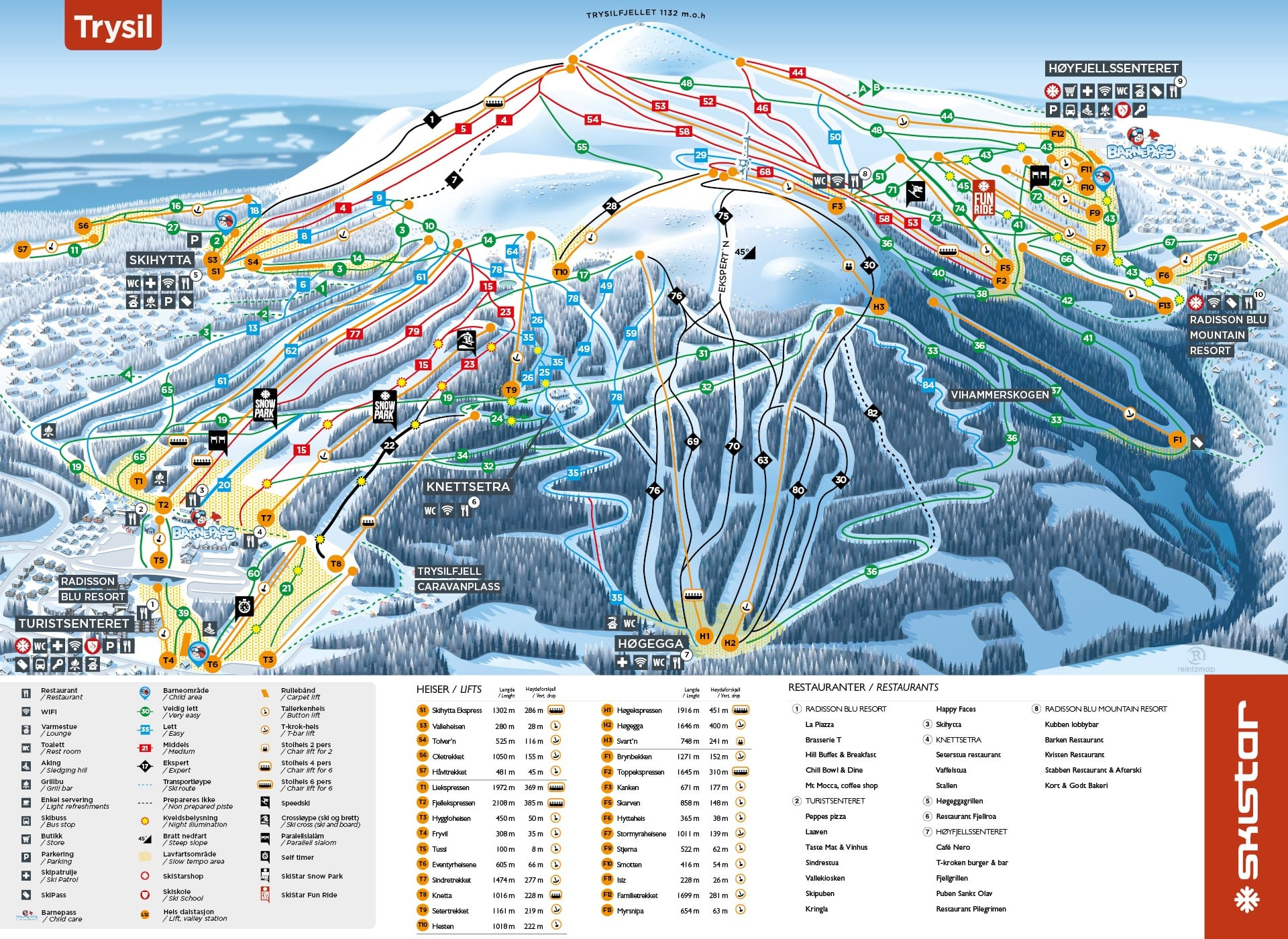 Trysil Piste / Trail Map