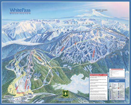 White Pass Village Piste / Trail Map