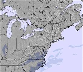 Appalachians and Great Lakes Sneeuw Kaart (3 Dagen)