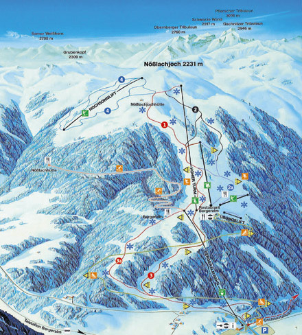 Bergeralm Piste / Trail Map