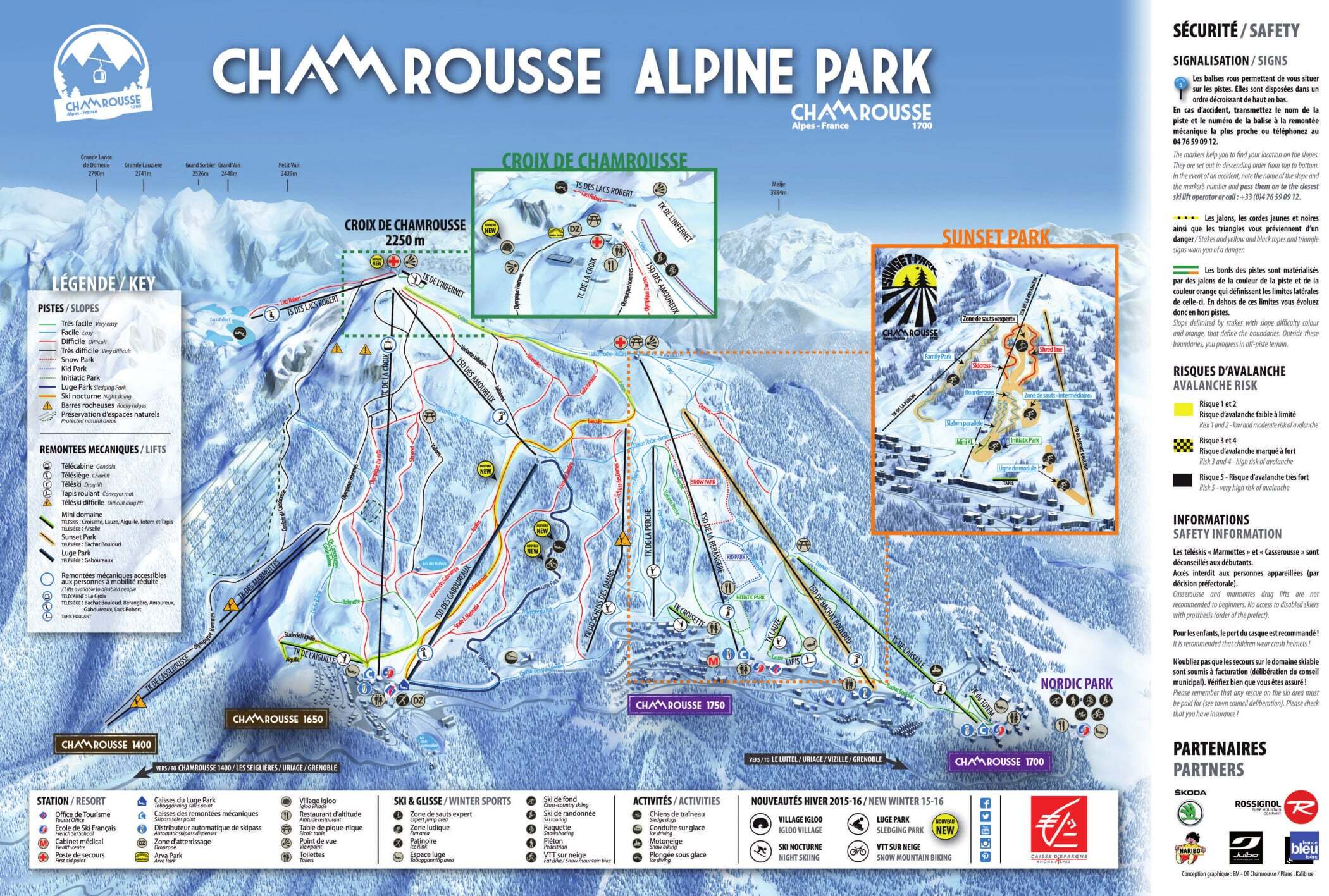 Chamrousse Piste / Trail Map