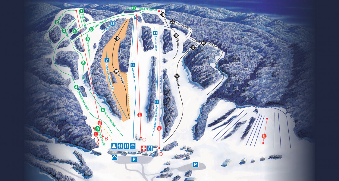 Edelweiss Ski Resort Piste / Trail Map