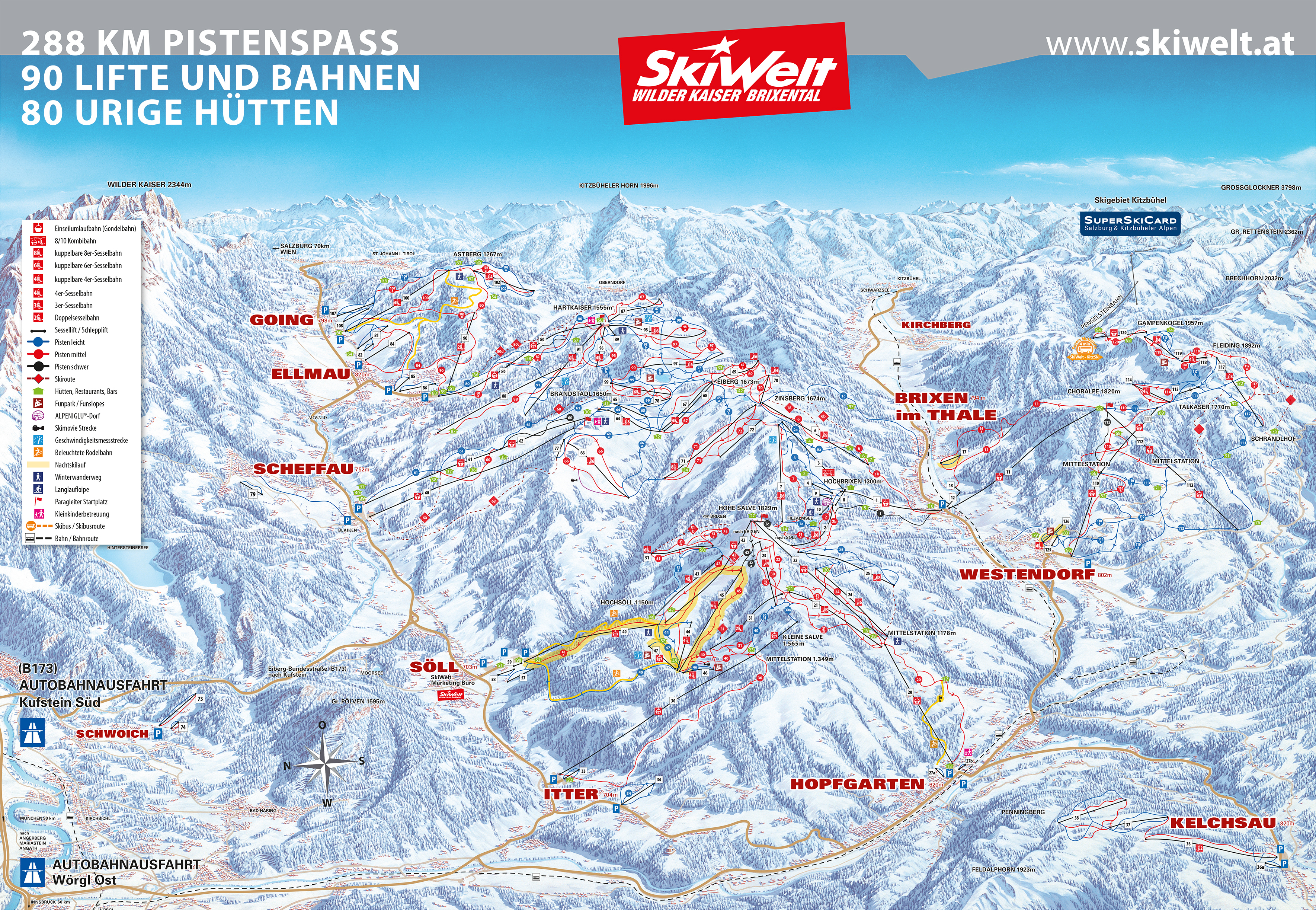 Ellmau Piste / Trail Map