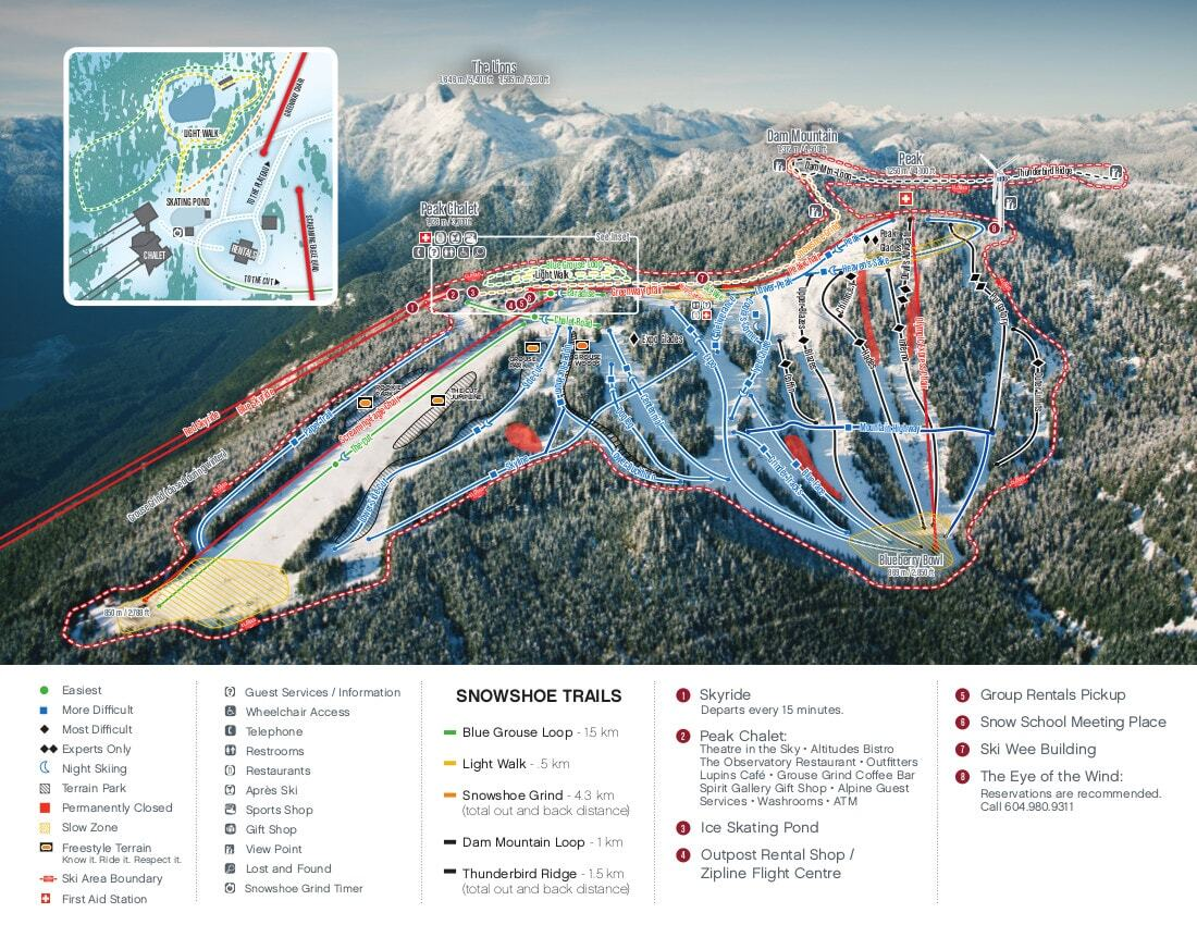 Grouse Mountain Piste / Trail Map