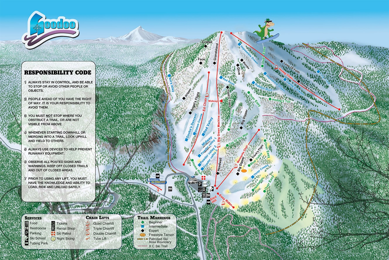 Hoodoo Ski Area Piste / Trail Map