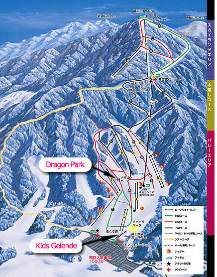Kita Shiga Ryuo Piste / Trail Map