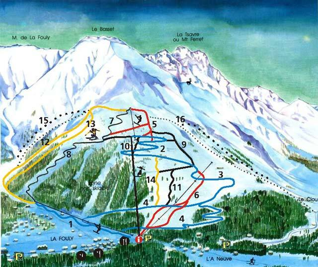 La Fouly - Val Ferret Piste / Trail Map