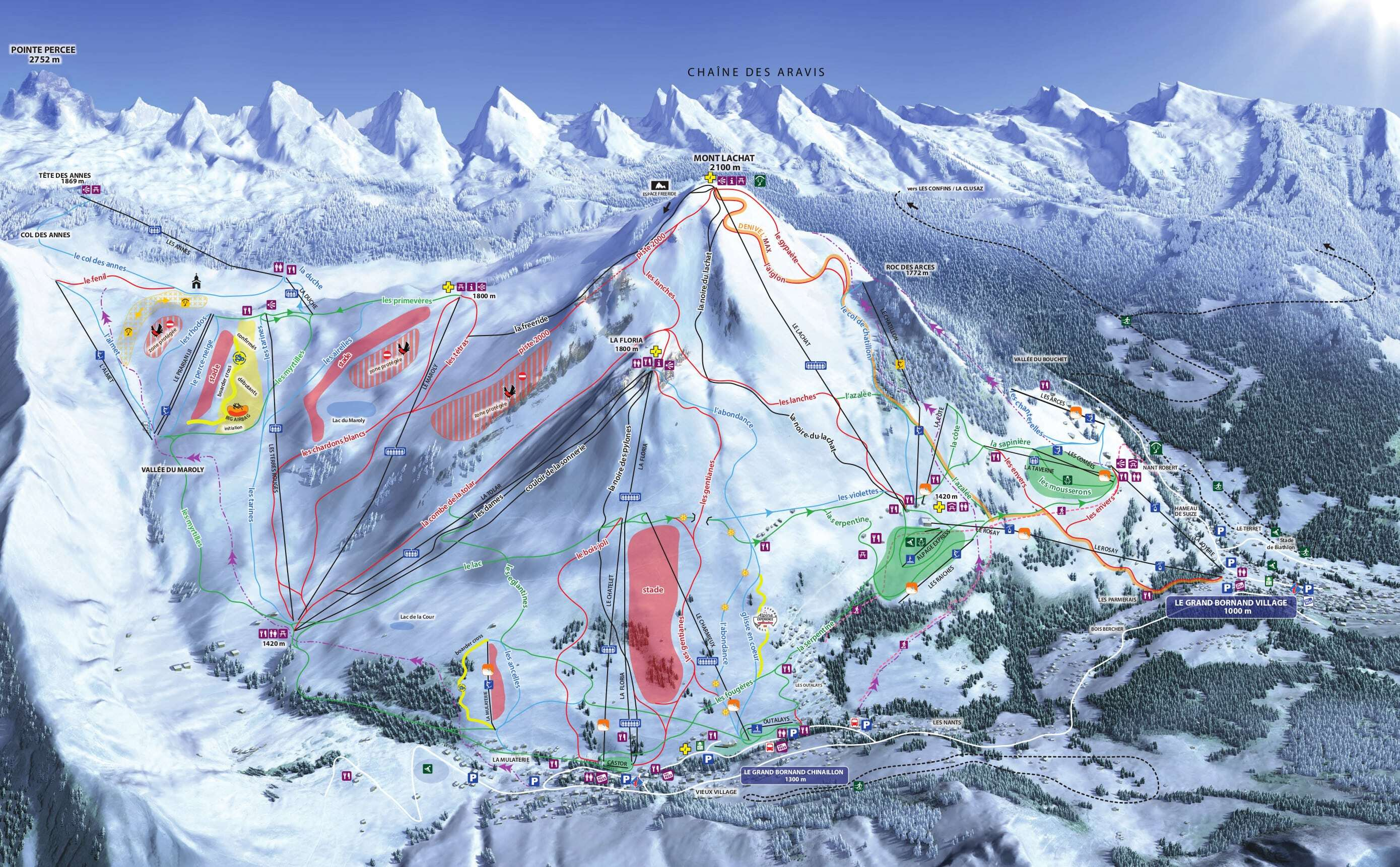 Le Grand Bornand Piste / Trail Map
