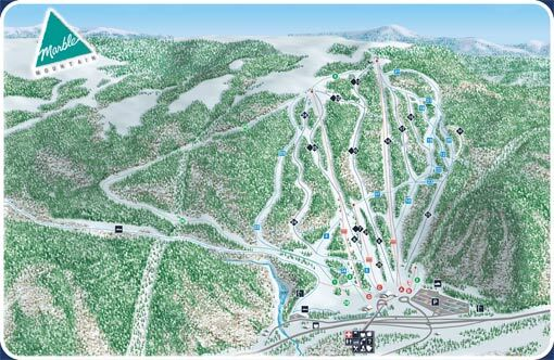 Marble Mountain Piste / Trail Map