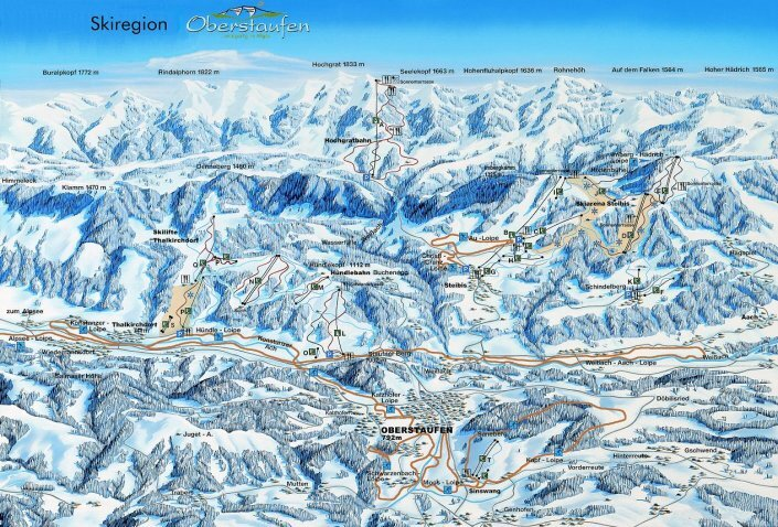 Oberstaufen Piste / Trail Map