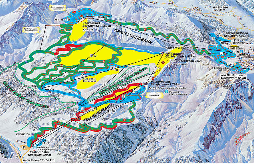 Oberstdorf-Fellhorn Piste / Trail Map