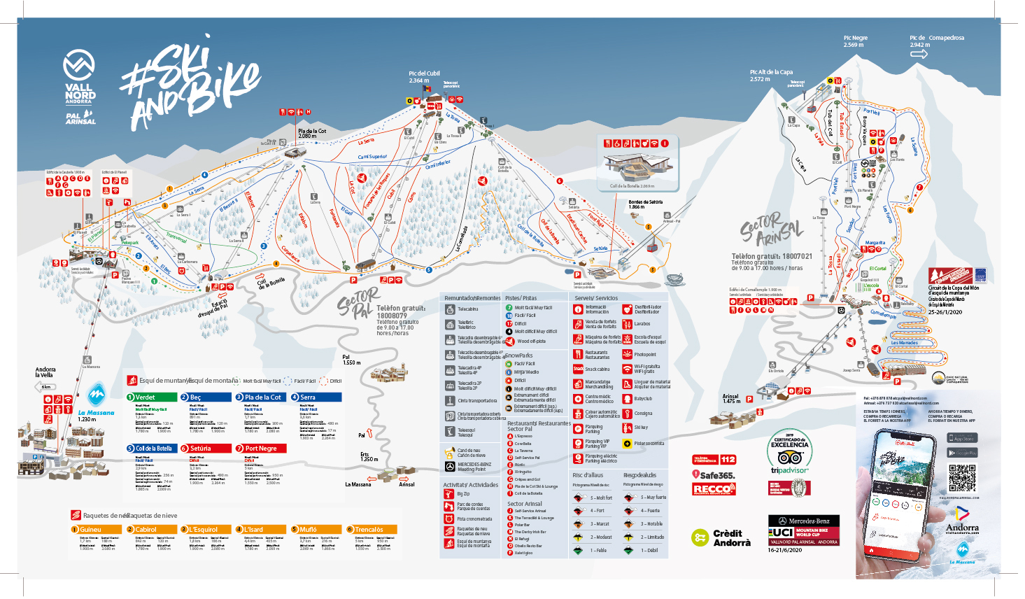 Vallnord-Pal Piste / Trail Map