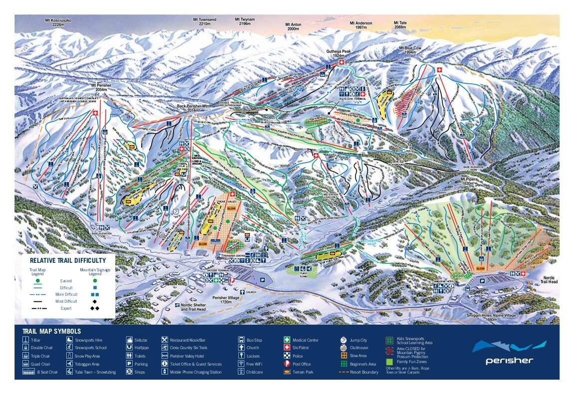 Perisher Piste / Trail Map