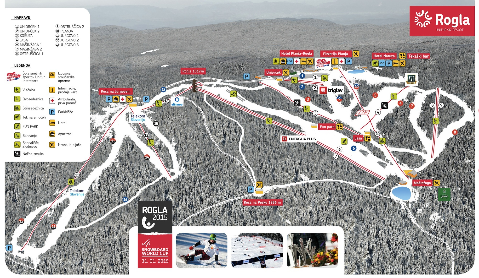 Rogla Piste / Trail Map
