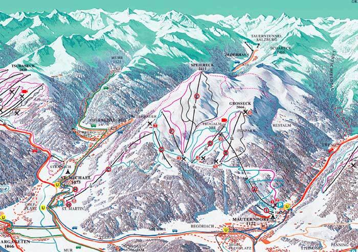 St Michael Piste / Trail Map