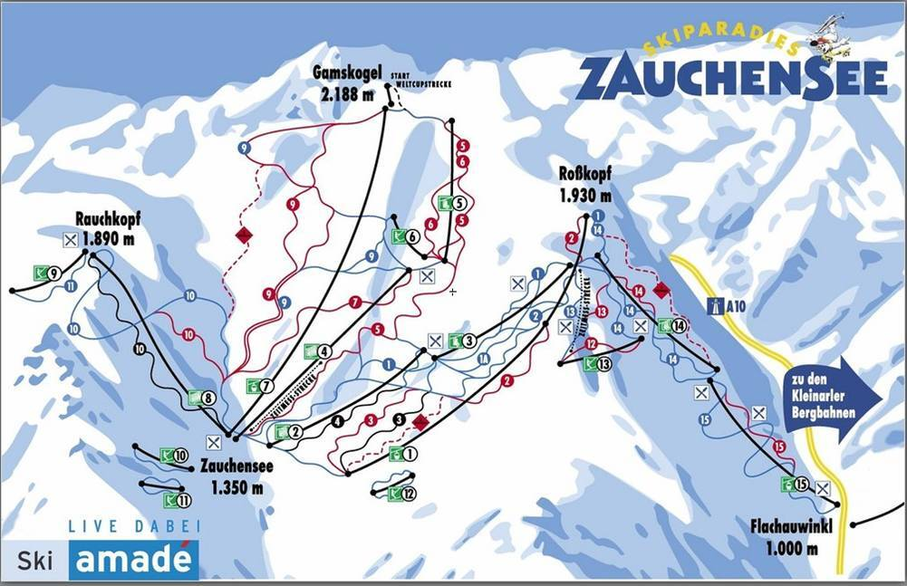 Zauchensee Piste / Trail Map