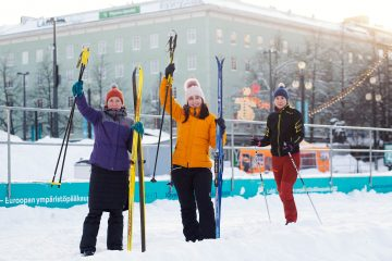 Finnish City Introduces Urban Ski Sharing Public Mobility Programme